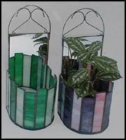 Stained Glass Wall Planter